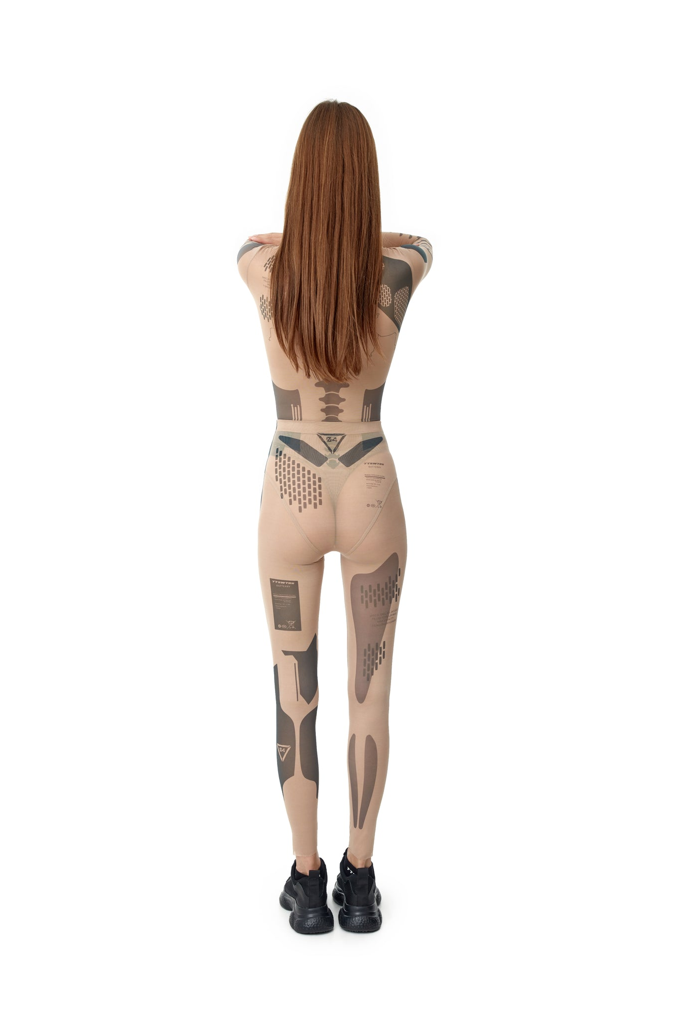 TATTOOED MESH LEGGINGS