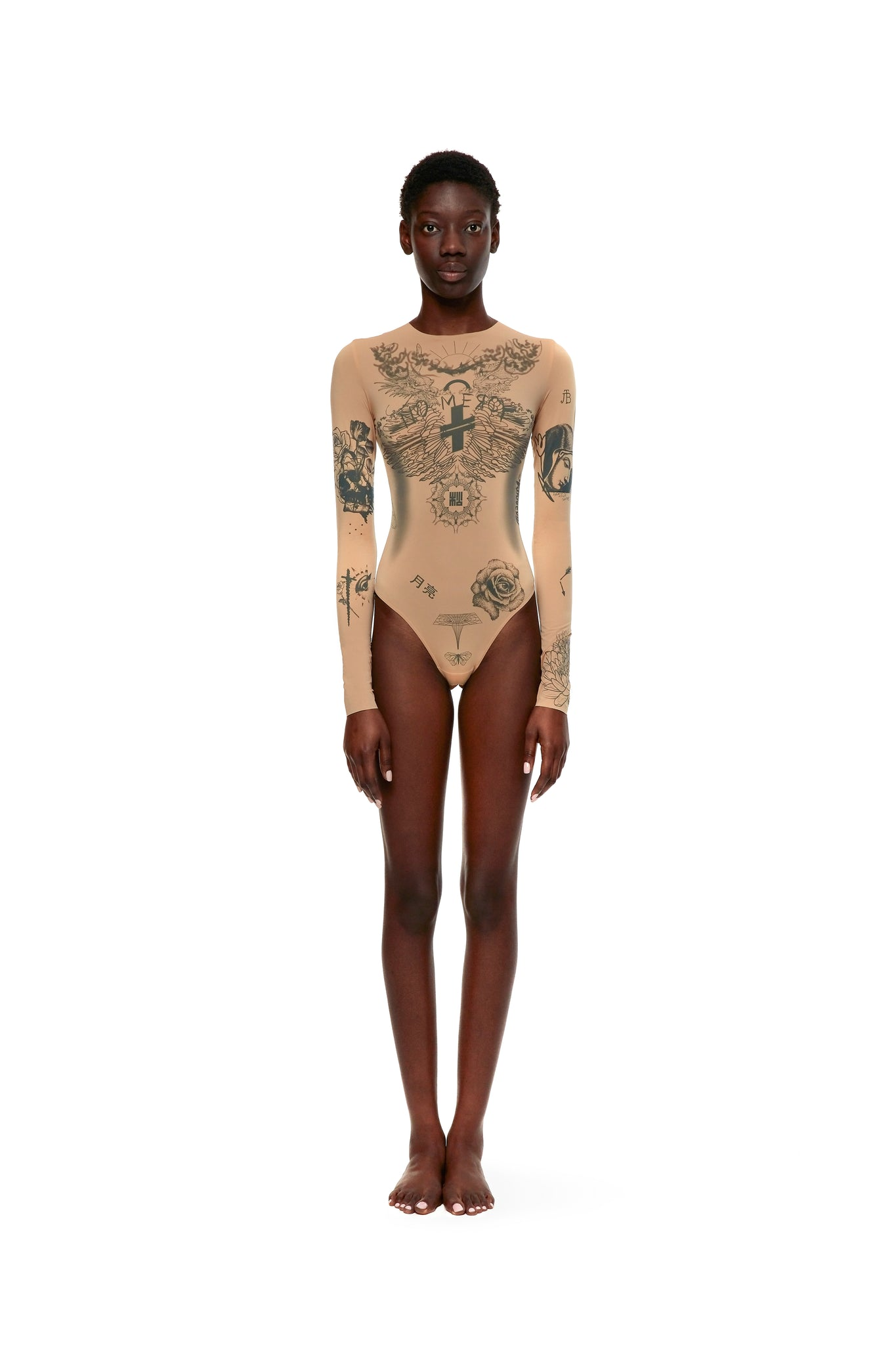 TANNED BEIGE BODYSUIT CHRISTIANITY