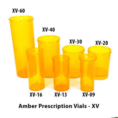 Amber Prescription Vials (XV)