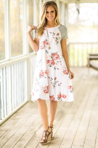 Floral Printed Casual Sundress