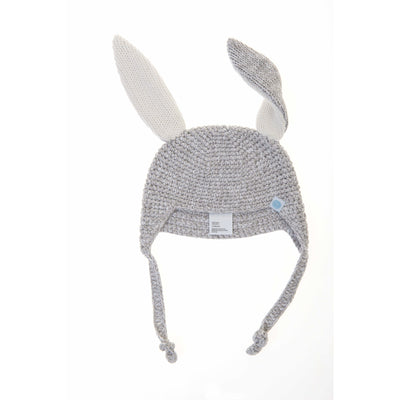 Beba Bean Accessories Grey Crochet Bunny Toque