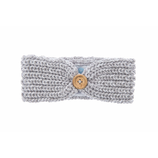 Beba Bean Accessories Grey Knit Headband