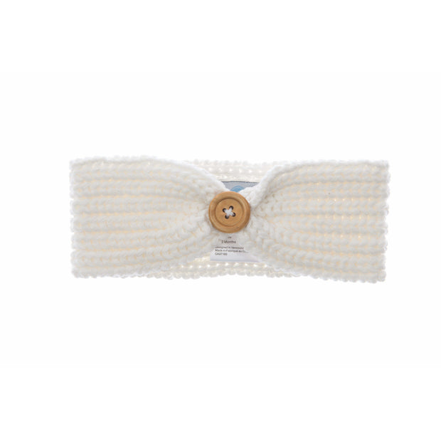 Beba Bean Accessories Ivory Knit Headband