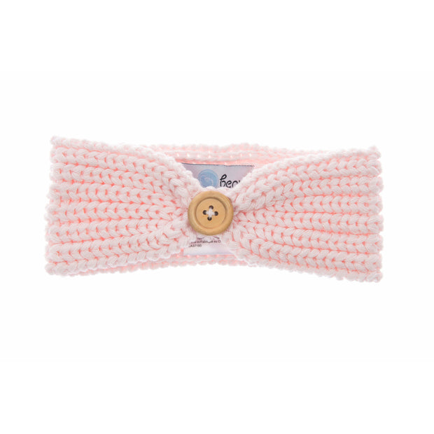 Beba Bean Accessories Pink Knit Headband