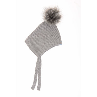 Beba Bean Accessories 3-6 / Grey Pom Pom Hat