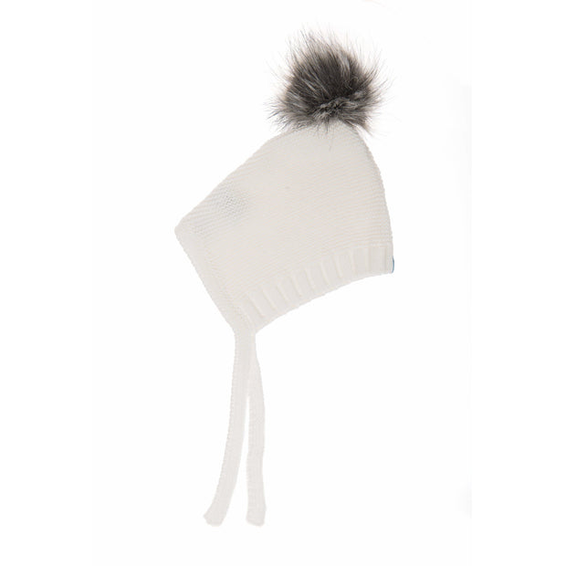 Beba Bean Accessories 3-6 / White Pom Pom Hat