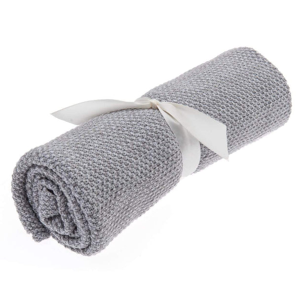 Beba Bean Accessories Grey Seed Stitch Blanket