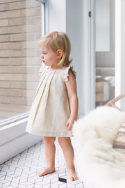 Box Pleat Linen Dress