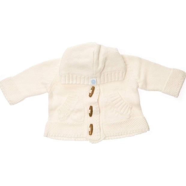 Beba Bean Clothes 0-3 / Ivory Knit Hoodie