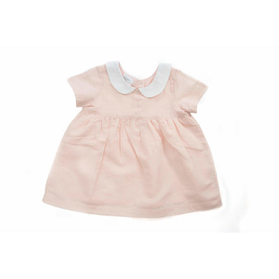 Beba Bean Clothes 3-6 / Pink Linen Party Dress