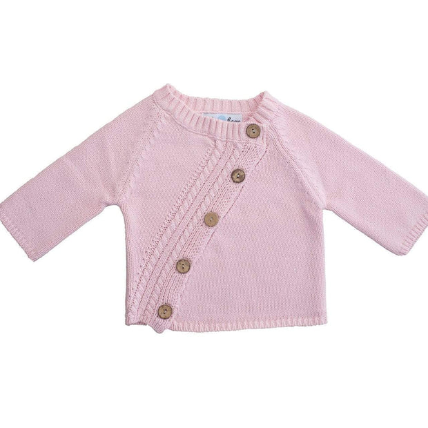 Beba Bean Clothes Pink Long Sleeved Cardigan