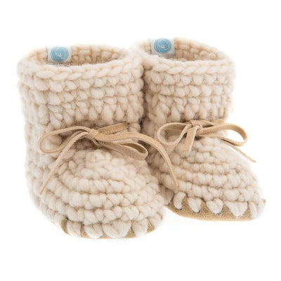 Beba Bean Shoes 0-6 / Ivory Sweater Moccs - Ivory