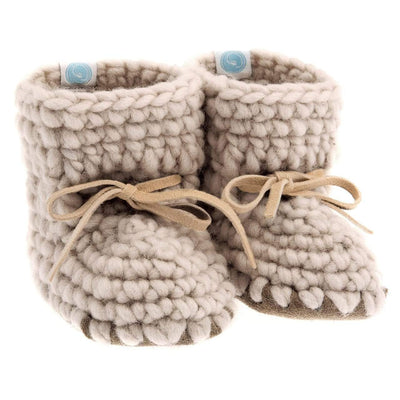 Beba Bean Shoes 0-6 / Oatmeal Sweater Moccs - Oatmeal