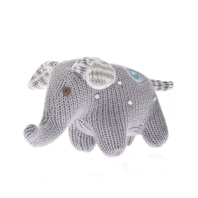Beba Bean Toys Knit Polka Dot Elephant Rattle