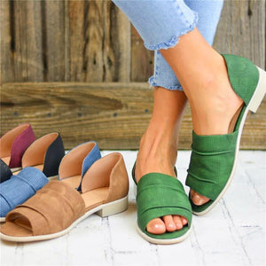 Casual Punch Flat Sandals