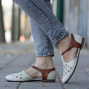 Casual Large Size Pointed Toe Flats