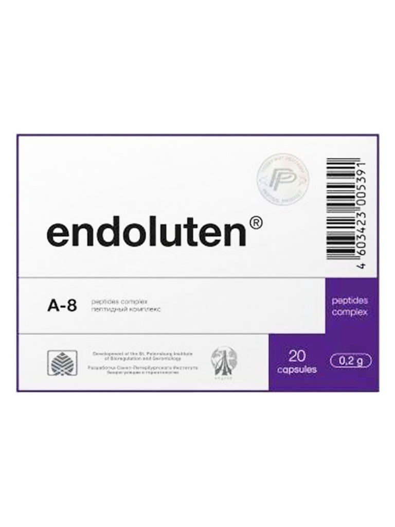 A-8 ENDOLUTEN - PINEAL PEPTIDE 20 CAPSULES