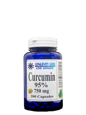 CURCUMIN 95% - 750 mg, 200 caps. Anti-Inflammatory