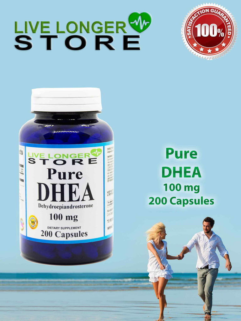 PURE DHEA - 100 Mg, 200 Caps