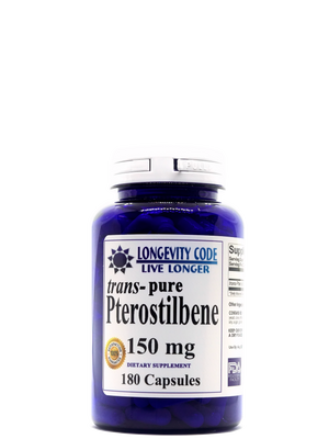 TRANS-PURE PTEROSTILBENE - 150 mg, 180 capsules