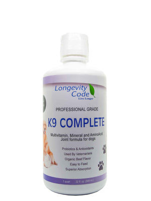 K9 Complete - 32 FL OZ, Pro-Grade Liquid Multi-Vitamins for Dogs