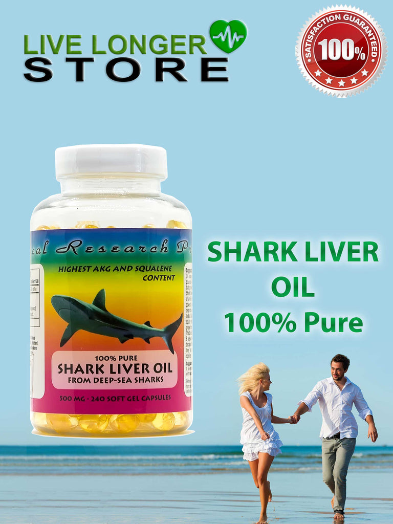 SHARK LIVER OIL COMPLEX- 500mg, 240 soft gel capsules