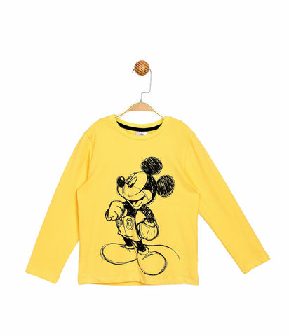 Mickey Mouse L/S T-Shirt -Yellow