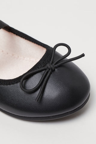 H&M Faux Leather Flats - Black