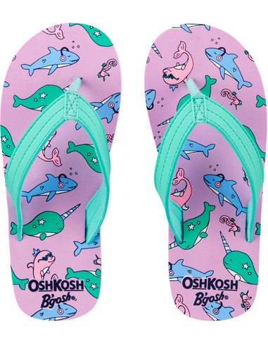 OshKosh Sea Creatures Flip Flops