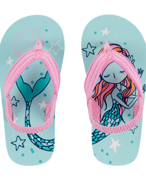 OshKosh Mermaid Flip Flops