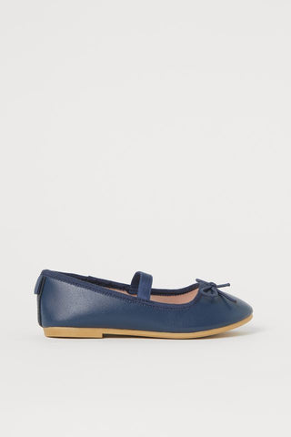 H&M Faux Leather Flats - Navy