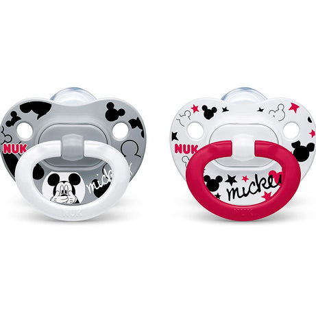 NUK Disney Mickey Mouse Orthodontic Pacifiers, 0-6