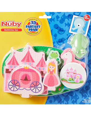 Nuby Floating Foam Castle Bath Toy