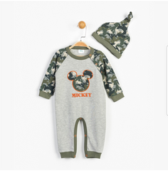 Mickey Mouse Baby Romper & Cap Set - 13363