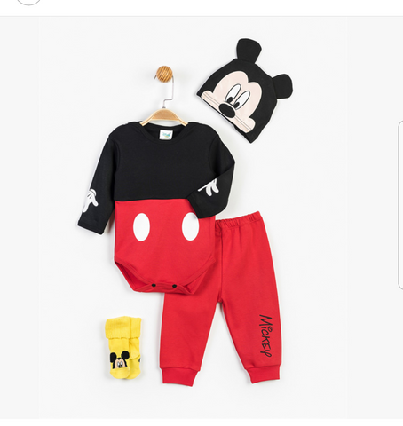 Mickey Mouse Bodysuit Set for Baby - 13329