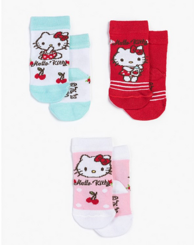 Hello Kitty Baby Socks - 3 Packs