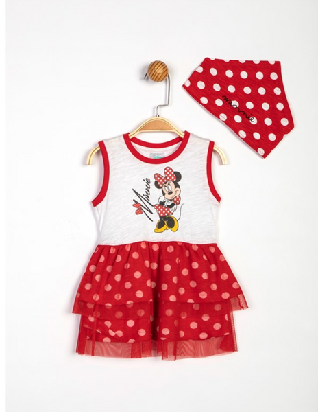 Minnie Mouse Dress & Bandana Bib - 13958
