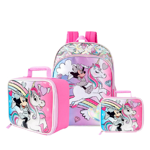 Minnie Mouse Holograpgic Backpack & Lunchie