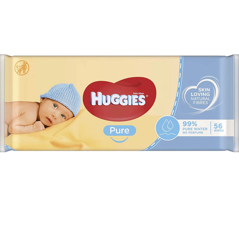 Huggies Pure Baby Wipes, 56 Wipes