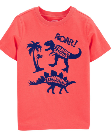 Oshkosh Dinosaur Tee - Orange
