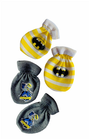 Batman Baby Mittens - Yellow