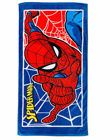 Spiderman Towel - Blue