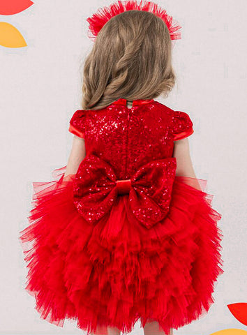 Princess Sparkly Tiered Dress