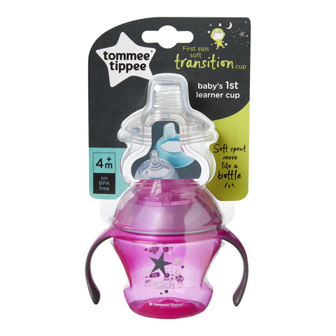 Tommee Tippee First Sips Soft Transition Cup, 4+ months