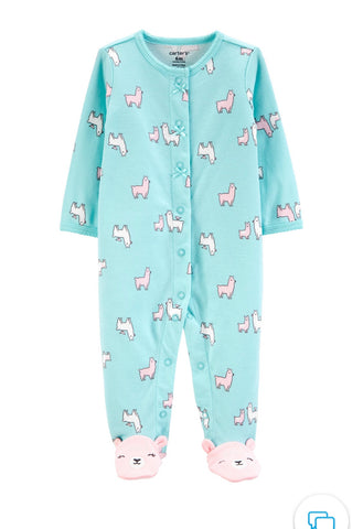 Llama Snap-Up Cotton Sleep & Play