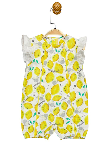 Disney Minnie Lemon Print Romper