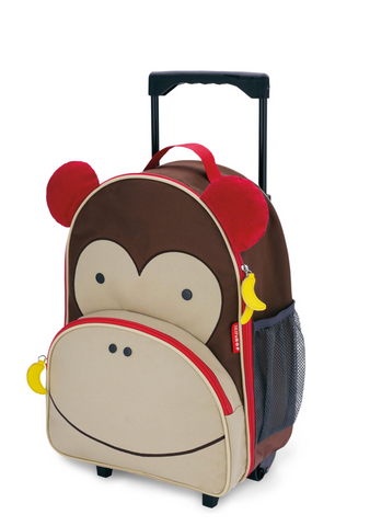 Zoo Skip Hop Kids Rolling Backpack  - Monkey