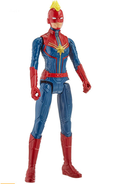 Avengers Marvel Titan Hero Series Blast Gear Captain Marvel Action Figure