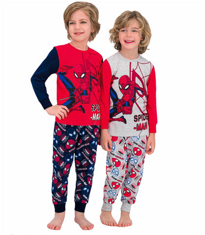 Spiderman Boys' 4-Piece Cotton Pajama Set