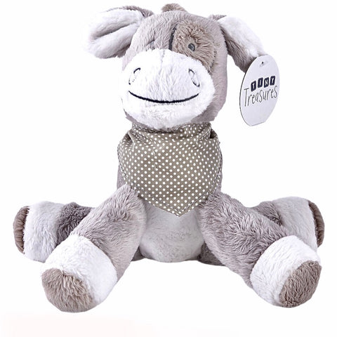 Grey & White Donkey With Neckerchief